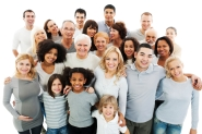 Portrait of a diversity Mixed Age and Multi-generation Family embracing and standing together. Isolated on white background. [url=http://www.istockphoto.com/search/lightbox/9786738][img]http://dl.dropbox.com/u/40117171/group.jpg[/img][/url]
